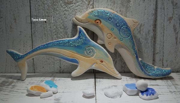 Κεραμικό δελφίνι μπομπονιέρα βάπτισης Ελληνική χειροποίητη καλή τιμή