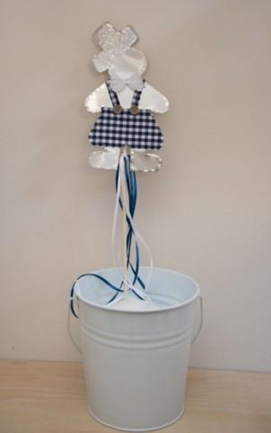 Στικ βάπτισης μπομπονιέρα μεταλλική με θέμα αγοράκι