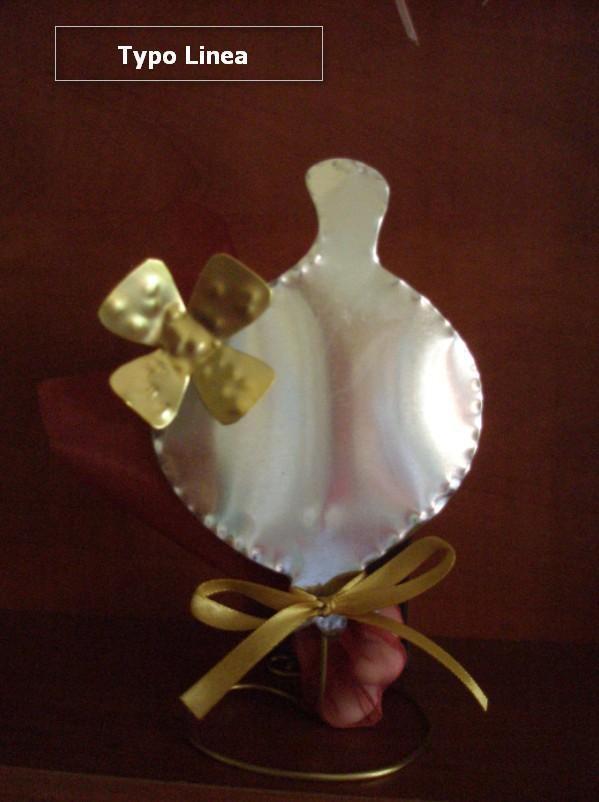Μπομπονιέρα βάπτισης Χριστουγέννων με ρόδι χειροποίητο μεταλλικό.