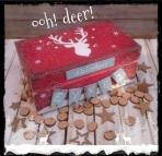 Με ελάφι εορτών κουτί για ευχές